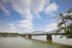 Bridge on the parfum river, Hue, Vietnam. Royalty Free Stock Photo