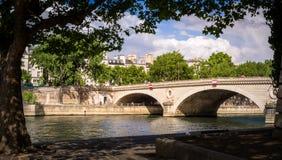 Bridge of Paris. Over the Seine river and near Notre Dame Stock Photos