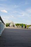 Bridge of Paris. With tourist activity Royalty Free Stock Images