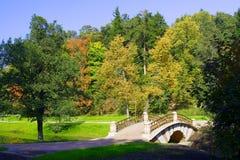 Bridge into park Stock Images