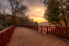 Bridge in the park Royalty Free Stock Image