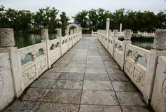Bridge in park Stock Photos