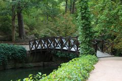 Bridge in a park Stock Photography