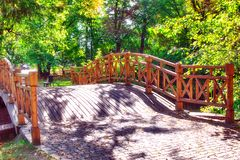 Bridge in park Royalty Free Stock Images