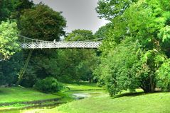 Bridge in a park, Flanders Royalty Free Stock Images