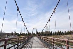 Bridge in the park. This photo is shot in Hiroshima Japan Stock Photo
