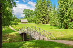 The bridge in park Royalty Free Stock Photo