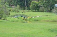 Bridge at park stock photos
