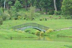 Bridge at park stock photography