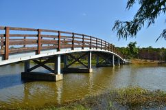 Bridge in the Park Royalty Free Stock Photo
