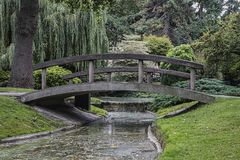 Bridge In The Park, Square St Roch, Le Havre, France Royalty Free Stock Images