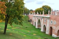 The bridge in park Tsarina's in Moscow Royalty Free Stock Photo