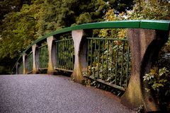 Bridge in a park in Victoria Suburbs, Canada stock photography