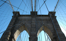 Bridge Part. Brooklyn Bridge and clear sky Royalty Free Stock Images