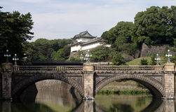Bridge and part of the imperial palace Stock Photos