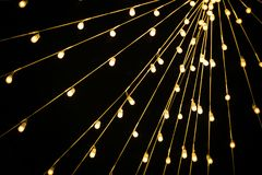 The bridge of party led light. Over the head for grand opening season or cerebration Royalty Free Stock Images