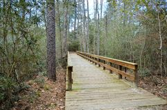Bridge path to hiking trail Royalty Free Stock Photos