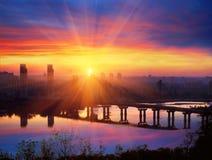 Bridge Paton at dawn Royalty Free Stock Photo