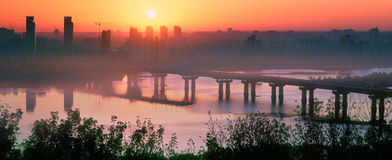 Bridge Paton at dawn Stock Image