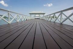 Bridge pavilion. Beautiful pavilion on Sichang island, chonburi province,Thailand Royalty Free Stock Photography