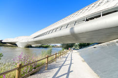 Bridge Pavilion in Zaragoza, Spain. Was built in 2008 for the international EXPO. Stock Photos
