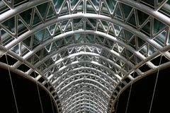 Bridge of Peace.     Steel and glass construction Stock Image