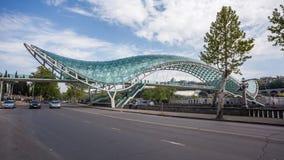 The Bridge of Peace over the Kura River in Tbilisi Stock Image