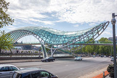 The Bridge of Peace over the Kura River in Tbilisi Stock Photography