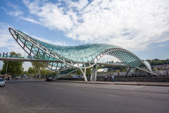The Bridge of Peace over the Kura River in Tbilisi Royalty Free Stock Photography