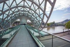 The Bridge of Peace over the Kura River in Tbilisi Royalty Free Stock Photos