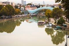 Bridge of Peace in Tbilisi Stock Photography