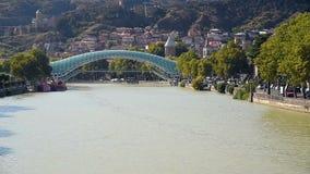 Bridge of Peace in Tibilisi, Georgia stock video