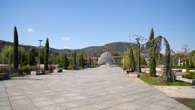 Bridge of Peace in Tibilisi, Georgia stock video footage