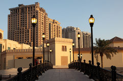 Bridge at The Pearl, Doha Royalty Free Stock Image