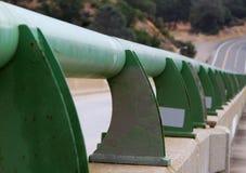 Bridge pedestrian guard rail Stock Images
