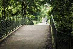 Bridge for pedestrians and bikers Stock Images