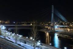 `Bridge of people in love`, Russia, Tyumen royalty free stock image