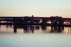 Bridge in Peoria. Bridge in downtown of Peoria, Illinois Stock Photography