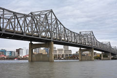 Bridge in Peoria. IL. Cloudy day Royalty Free Stock Photos