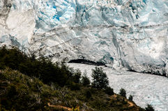 Bridge in Perito Moreno royalty free stock image
