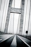 Bridge perspective. Big bridge perspective in black and white Stock Images
