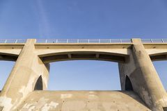 The Bridge Perspective. A perspective of a bridge in California Royalty Free Stock Photo