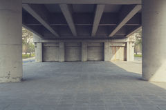 Bridge. Perspective construction from under the bridge Stock Photography