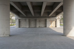 Bridge. Perspective construction from under the bridge Stock Photos
