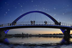 Bridge in Perth under starry sky Royalty Free Stock Image