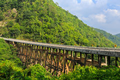 Bridge in Petchabun Royalty Free Stock Photos