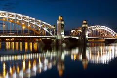 The Bridge Of Peter The Great (Bolsheokhtinsky) Royalty Free Stock Photography