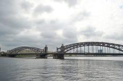 Bridge Peter the Great in St.Petersburg. Royalty Free Stock Photos