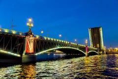 Bridge Petersburg, Russia Stock Photos