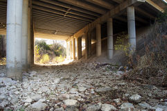 Bridge. Photograph taken under a highway bridge Royalty Free Stock Images